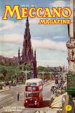 Meccano Magazine - January 1955 Cover  -  Leyland Titan pases the Scott Monument in Princes Street