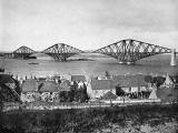 Photograph from View Album of Edinburgh & District, published by Patrick Thomson around 1900  -  Forth Bridge, photo 2