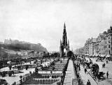 Photograph from View Album of Edinburgh & District, published by Patrick Thomson around 1900  -  Princes Street Looking West