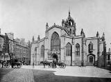 Photograph from View Album of Edinburgh & District, published by Patrick Thomson around 1900  -  St Giles' Cathedral