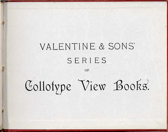 Inside the back cover of Valentine & Sons Collotype View Series book - Edinburgh