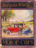 'Do You Know? - Motor Cars' book published by Valentine & Sons