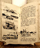 A children's 'book toy' by Valentine & Sons Ltd  -  'The Story of the Motor Car'  -  Pages 10-11