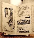 A children's 'book toy' by Valentine & Sons Ltd  -  'The Story of the Motor Car'  -  Pages 12-13
