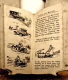 A children's 'book toy' by Valentine & Sons Ltd  -  'The Story of the Motor Car'  -  Pages 14-15