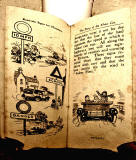 A children's 'book toy' by Valentine & Sons Ltd  -  'The Story of the Motor Car'  -  Pages 20-21