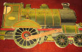The front cover of  a children's 'book toy' by Valentine & Sons Ltd  -  'The Story of the Railway Engine'