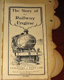 The title page of  a children's book by Valentine & Sons Ltd  -  'The Story of the Railway Engine'