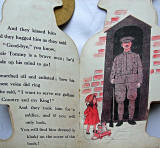 Two pages from inside a 'book toy' published by Valentine & Sons  -  'Tipperary Tommy'