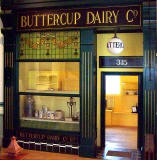 A replica of a Buttercup Dairy Co shop, at the People's Palace Museum in Glasgow