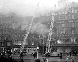 C&A Modes, Princes Street  -  Fire 1955, View from Waverley Bridge