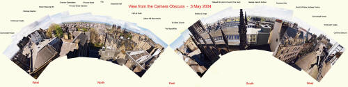 Panoramic View of Edinburgh from the Camera Obscura  -  May 2004
