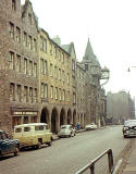 Looking down the Royal Mile to Canongate Tolbooth  -  1963
