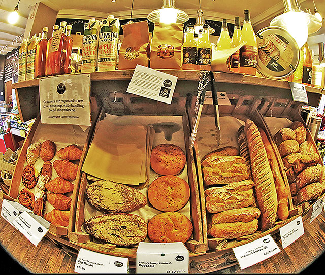 Earthy Fresh Food shop and Restaurant, Canonmills  -  Fresh Bread for sale