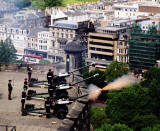 Edinburgh Castle  -  21 Gun Salute on 12 June 2004  -  FIRE!