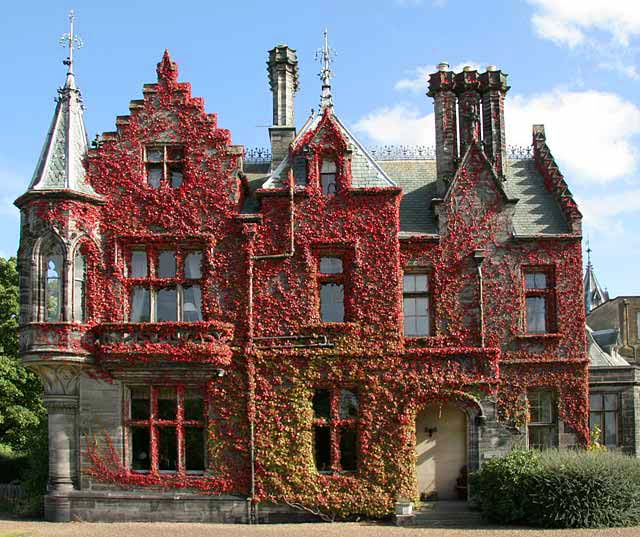 The Headmaster's Lodge, situated on the north-west corner of Fettes College