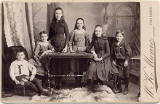 Cabinet print by W K Munro  -  Six Children