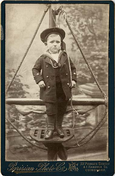 Cabinet Print by Parisian Photo Company  -  Boy and ropes