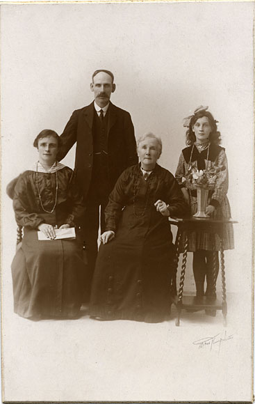 Platinotype Print of a Family  -  by D & W Prophet