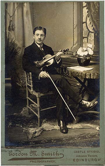 Gordon M Smith  -  Cabinet Print  -  Violinist Sitting