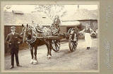 An Outdoor Cabinet Print by James Wood, Airdrie  -  Horse and Cart