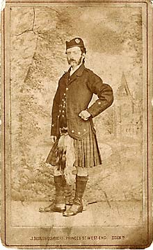 Carte de visite from the studio of John Horsburgh  -  The Edinburgh and Hawick photographer, George Oman