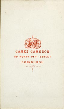 James Jameson  -  carte de visite  -  4 (back)