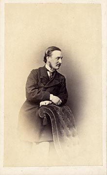 Carte de visite  -  Kyles  -  36 Regent Street  -  Man and chair