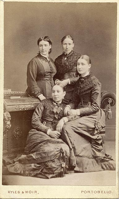 Carte de visite  -  Kyles & Moir  - 1877 to 1882  -  Four ladies