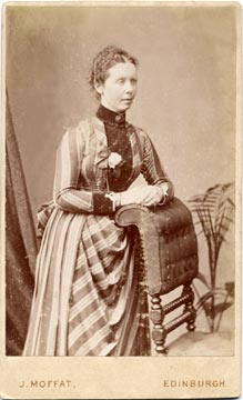 John Moffat  -  Carte de visite  -  1886 to around 1890  -  Lady and chair
