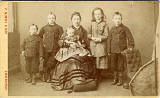 Carte de visite by P Nimmo & Son  -  Lady and five children