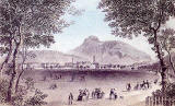 Engraving from Nelson's Pictorial Guide Books  -  Arthur Seat and Salisbury Crags