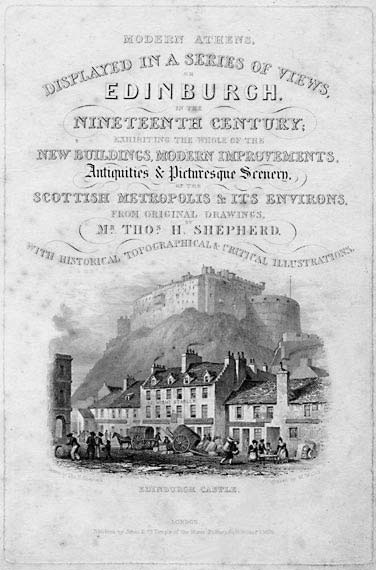 The Title Page from the book Modern Athens - published in 1829