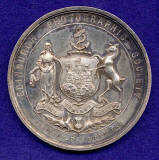 The front of a Silver Medal awarded by Edinburgh Photographic Society to J B Johnstone in 1896