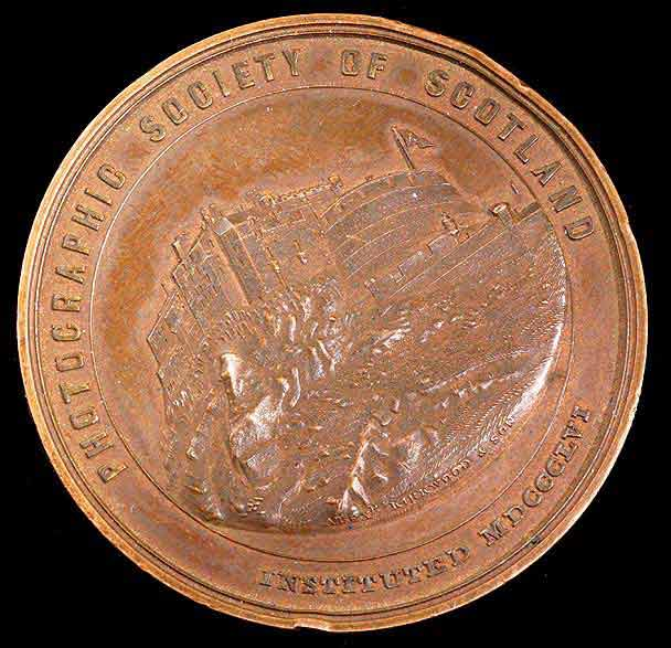 Photographic Society of Scotland Medal awarded to John MacNair, 1860