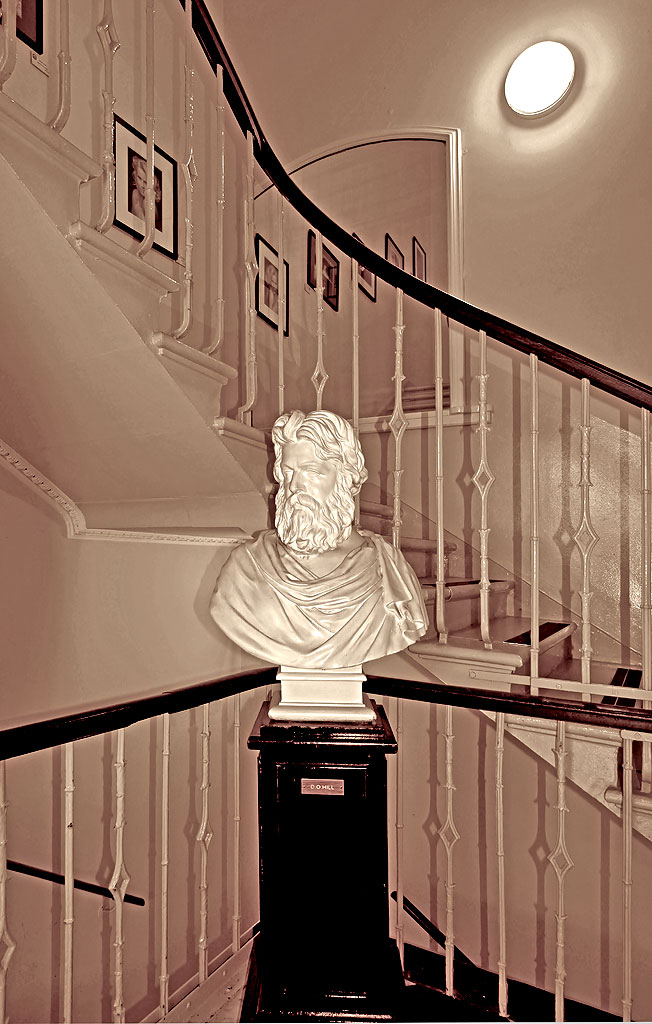 Bust of DO Hill, at EPS Premises, 68 Great King Street  -  Where did it come from and when?