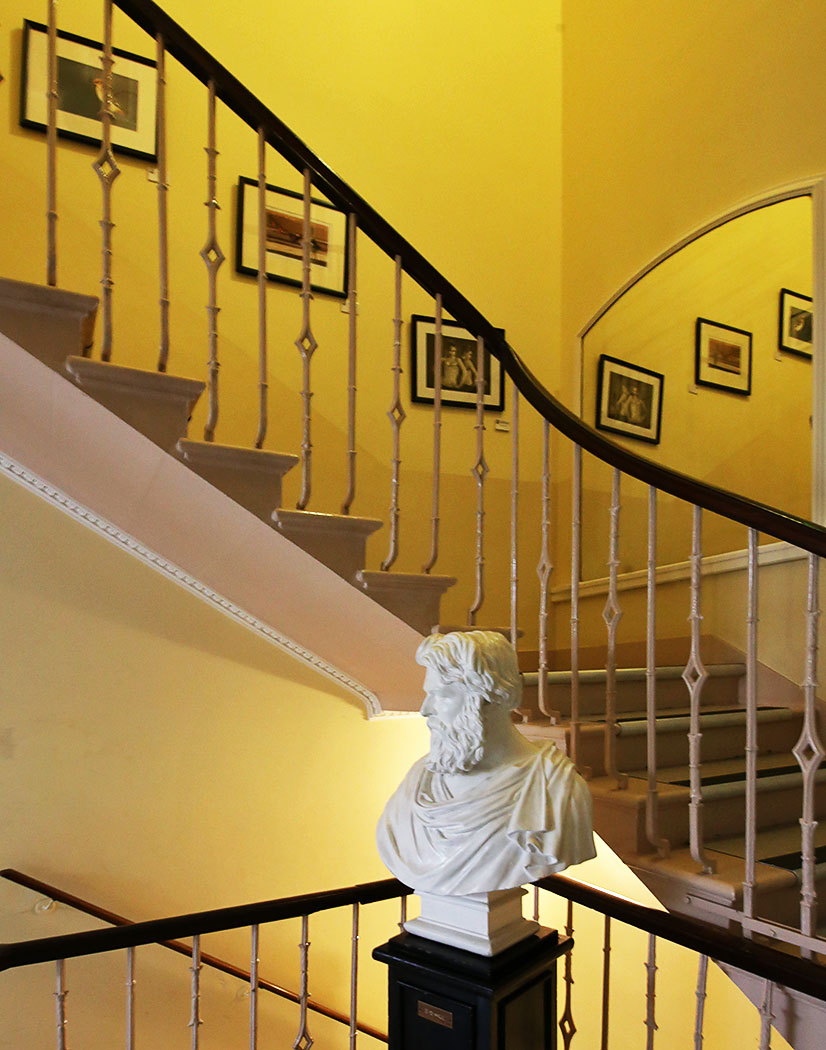 Edinburgh Photographic Society Premises at 68 Great King Street  -  Bust of DO Hill in the Hall