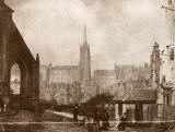 EPS Survey Section photograph  -  Greyfriars Churchyard and  Tollbooth St John's Church  -  DO Hill, 1843-45