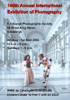 Edinburgh Photographic Society  -  140th International Exhibition of Photography  -  2002  -  Poster