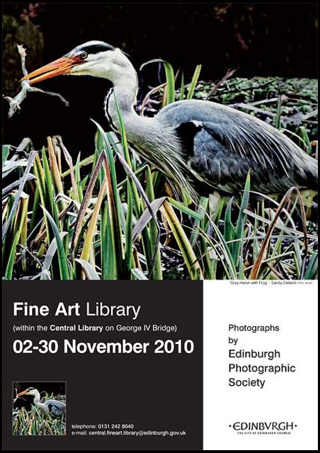 Exhibition of prints by Members of Edinburgh Photographic Society  -  in the Fine Arts Dept of Edinburgh Central Library, George IV Bridge, Edinburgh