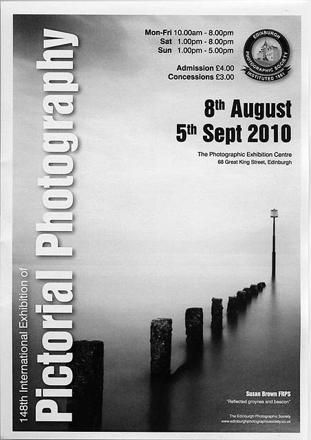 A Poster For The EPS International Exhibition Of Photography 2010 Featuring Photo By Susan