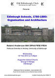 Poster for Old Edinburgh Club Lecture - February 2012