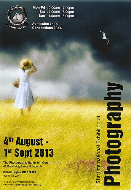 A Poster For The Edinburgh Photographic Society Open Exhibition 2013 Featuring Photo By Michael