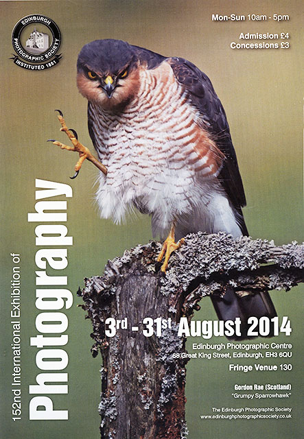 Poster for Edinburgh PHotographic Society's International Exhibition, 2014