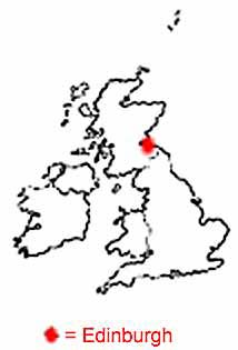 Outline Map of Britain Where is Edinburgh
