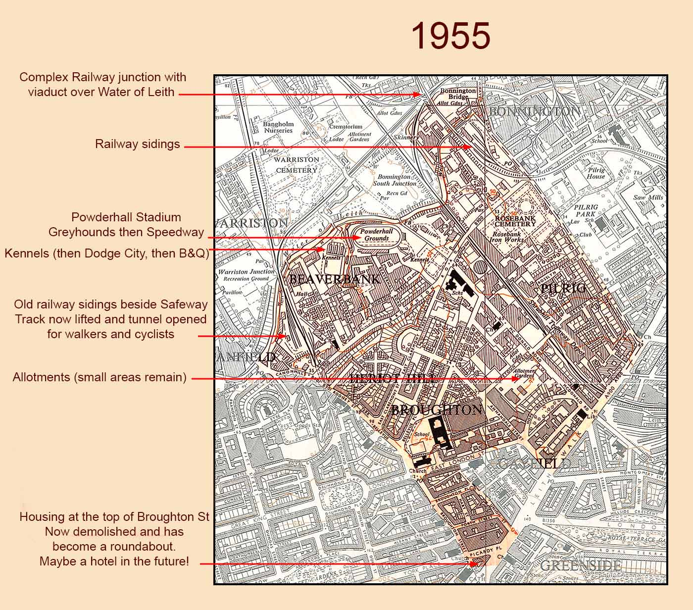 Broughton Ward (1995-2007)    -  1955 OS Map, 10560 scale + comments