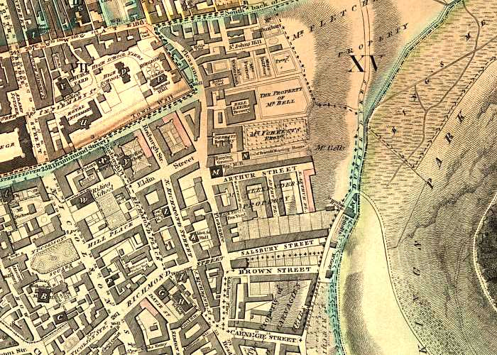 Map of part of Dumbiedykes including the Deaf & Dumb Academy after which the district was named