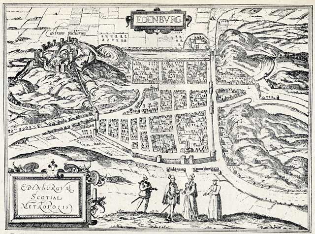 Edinburgh Map  -  c.1582