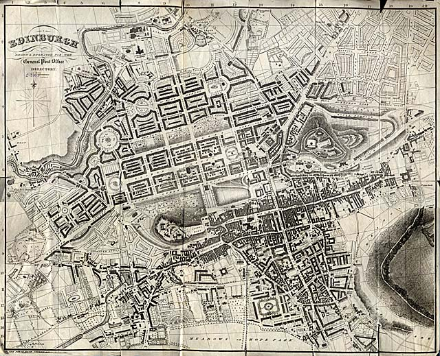 Edinburgh 1830  -  Small Map