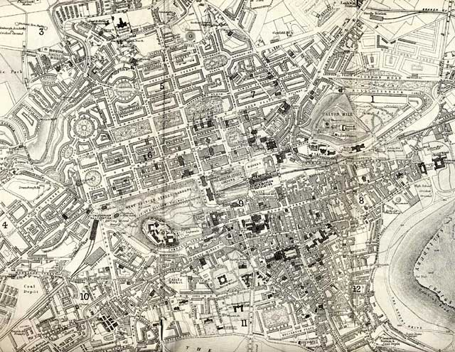 Map of Edinburgh and Leith. 1870  -  Central Edinburgh Section